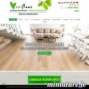 Podłogi Venifloor są to propozycje polskiej marki drewnianych paneli należącej do ZIP Sp.z.o.o. Na stronie venifloor.com zajdą Państwo informacje o kolekcjach, procesie produkcji, jak również porady dotyczące sposobu montażu czy też pielęgnacji. Panele Venifloor zarówno w kolekcjach z podłogami z rodzimych gatunków drewna, jak i tych z egzotycznymi dostępne także w bezpośrednio w sklepie internetowym o adresie venifloor.com/sklep.