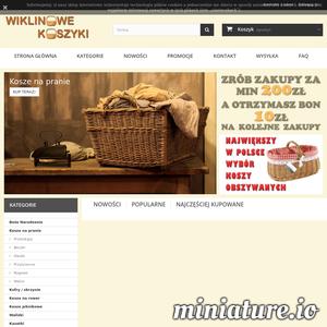 Wiklinowe koszyki, wykonane z polskich gatunków wierzby. Wiele wzorów i kolorów, największy wybór obszyć i kolorów.