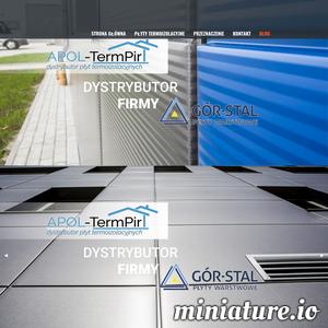 Apol-Termpir jest dystrybutorem płyt izolacyjnych termPIR, które są częścią izolacyjną służącą do ocieplenia budynków wewnątrz i zewnątrz.  Szczegóły na stronie. Ocieplenie / docieplenie pirem jest idealnym rozwiązaniem dal domów które mają być energooszczędne w skali kilku lat.