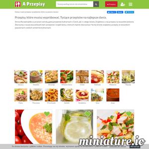 Strona aPrezepisy.pl przynosi szeroką gamę przepisów kulinarnych z Polski, jak i z całego świata. Znajdziesz u nas przepisy na wszystkie jedzenia. Tysiące przepisów na najlepsze dania.