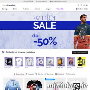 Zamawiaj koszulki z nadrukiem w sklepie MegaKoszulki.pl. 6000 modnych bluz i koszulek z nadrukami. Zrób prezent najbliższym. Sprawdź nas!