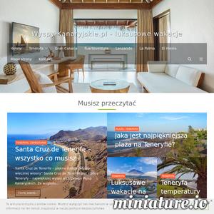 Odkryj niesamowite Wyspy Kanaryjskie - zaplanuj z nami idealne wakacje, wyjazd na weekend albo rodzinne wczasy. Fuerteventura, Gran Canaria, Teneryfa, Lanzarote - informacje o wszystkich wyspach w jednym miejscu - największe atrakcje, wybrane najlepsze hotele, wykwintne restauracje. Dowiesz się jak dojechać, co robić na miejscu u gdzie jest najlepsza plaża. Baza praktycznych, aktualnych informacji o Wyspach Kanaryjskich - najciekawsze miejsce o takiej tematyce w polskim internecie! Sprawdź nas, jeśli marzysz o cudownych wakacjach na Wyspach Kanaryjskich.