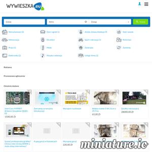 Nowy bezpłatny portal ogłoszeniowy Wywieszka.eu z fajnymi funkcjami .m.in. Powiadomienia w przeglądarce dla zalogowanych użytkowników, możliwość kopiowania ogłoszeń , galeria zdjęć w ogłoszeniach, oraz przyjazny edytor opisu w dodawaniu ogłoszeń i wiele więcej.  Zapraszamy na wywieszka.eu ./_thumb1/wywieszka.eu.png